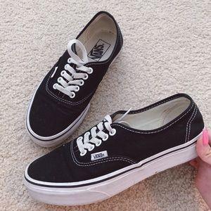 Vans black authentic sneakers